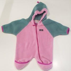 L.L.Bean infant fleece suit